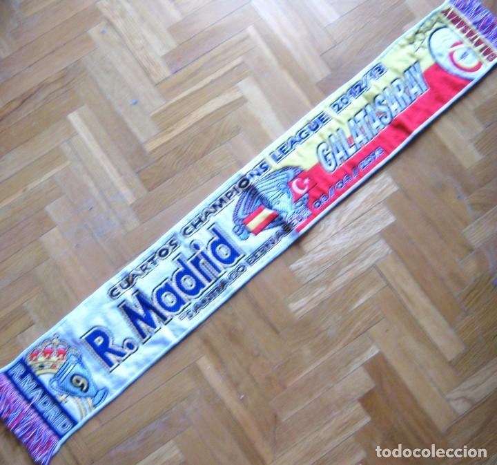 BUFANDA SCARF REAL MADRID - GALATASARAY CHAMPIONS LEAGUE 12-13 SCHAL ECHARPE R (Coleccionismo Deportivo - Material Deportivo - Fútbol)