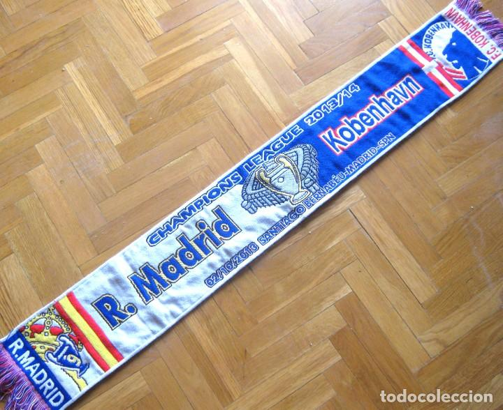 BUFANDA SCARF REAL MADRID – FC KOBENHAVN DENMARK 2013-14 CHL NEW SCHAL SCIARPA (Coleccionismo Deportivo - Material Deportivo - Fútbol)