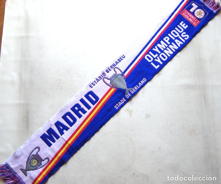 BUFANDA SCARF REAL MADRID – OLYMPIQUE LYONNAIS LYON CHAMPIONS LEAGUE NEW SCHAL ECHARPE (Coleccionismo Deportivo - Material Deportivo - Fútbol)