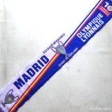 Coleccionismo deportivo: BUFANDA SCARF REAL MADRID – OLYMPIQUE LYONNAIS LYON CHAMPIONS LEAGUE NEW SCHAL ECHARPE. Lote 218034775