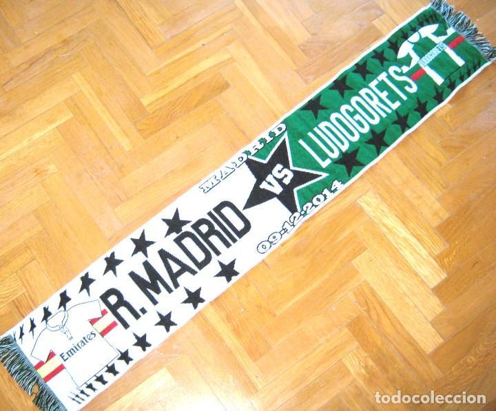 BUFANDA SCARF REAL MADRID – LUDOGORETS RAZGRAD BULGARIA CHAMPIONS LEAGUE NEW SCHAL (Coleccionismo Deportivo - Material Deportivo - Fútbol)