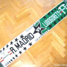 Coleccionismo deportivo: BUFANDA SCARF REAL MADRID – LUDOGORETS RAZGRAD BULGARIA CHAMPIONS LEAGUE NEW SCHAL. Lote 218034881
