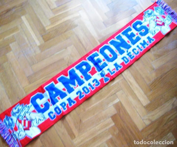 BUFANDA SCARF ATLETICO MADRID CAMPEON WINNER COPA REY 2013 DECIMA SCHAL SCIARPA (Coleccionismo Deportivo - Material Deportivo - Fútbol)