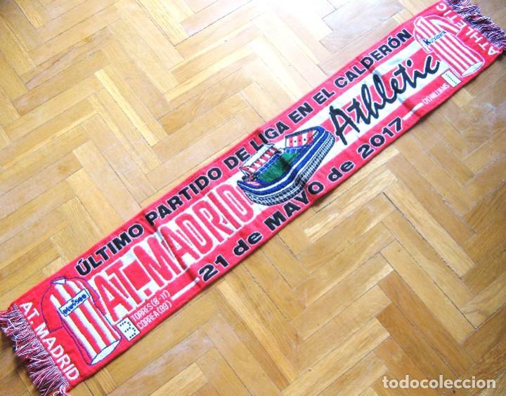BUFANDA SCARF ATLETICO MADRID - ATHLETIC BILBAO ULTIMO LIGA 16-17 (3-1) DESPEDIDA VICENTE CALDERON (Coleccionismo Deportivo - Material Deportivo - Fútbol)
