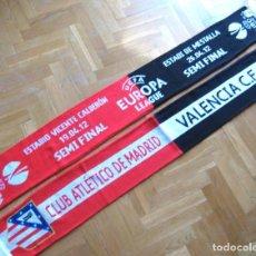 Coleccionismo deportivo: BUFANDA SCARF ATLETICO MADRID - VALENCIA CF SEMIFINAL EUROPA LEAGUE 2011-12 SCIARPA OFFICIAL UEFA. Lote 218039178
