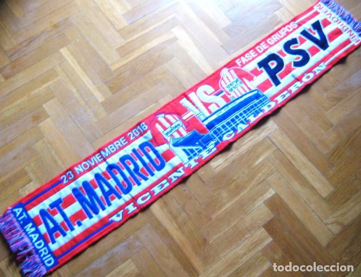 BUFANDA SCARF ATLETICO MADRID PSV EINDHOVEN CHAMPIONS LEAGUE 16-17 SCHAL ECHARPE (Coleccionismo Deportivo - Material Deportivo - Fútbol)