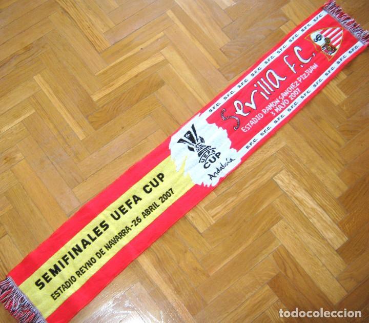 BUFANDA SCARV SEVILLA FC VS CA. OSASUNA SEMIFINAL UEFA CUP EUROPA LEAGUE EN PAMPLONA 2006-07 (Coleccionismo Deportivo - Material Deportivo - Fútbol)