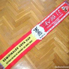 Coleccionismo deportivo: BUFANDA SCARV SEVILLA FC VS CA. OSASUNA SEMIFINAL UEFA CUP EUROPA LEAGUE EN PAMPLONA 2006-07. Lote 218202598