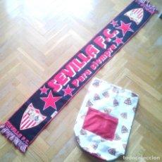 Coleccionismo deportivo: BUFANDA OFICIAL + MOCHILA DEL SEVILLA FC PARA PARTIDOS PASEO SCARF + BACKPACK !!. Lote 218202687