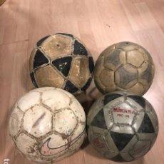 Coleccionismo deportivo: LOTE DE 4 BALONES - PELOTAS DE FUTBOL (2 DE FUTBOL SALA Y DOS DE FUTBOL ONCE). Lote 218397687