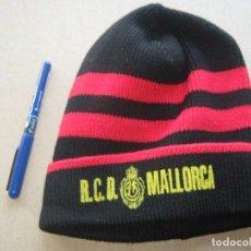 Coleccionismo deportivo: GORRO RCD MALLORCA ANTIGUO Y NUEVO NEW + SERIGRAFIADA ACRILICA AJUSTABLE CAP MUTZE R. Lote 218911607