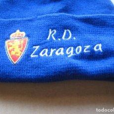 Coleccionismo deportivo: GORRO REAL ZARAGOZA NUEVO NEW + BORDADA TOTAL ACRILICA AJUSTABLE CAP MUTZE. Lote 218912853