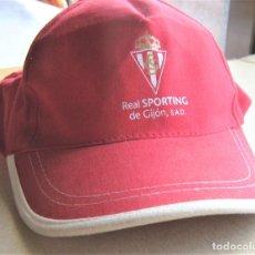Coleccionismo deportivo: GORRA SPORTING DE GIJON ASTURIAS VISERA Y NUEVA NEW + CALIDAD AJUSTABLE CAP MUTZE. Lote 218916678