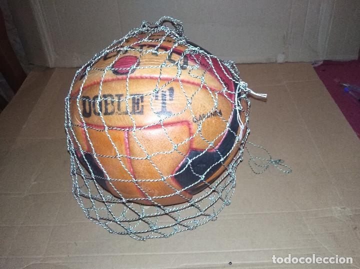 BALON FUTBOL PUNTO DOBLE T REGLAMENTARIO AÑOS 40 LEER VER ENVIO (Coleccionismo Deportivo - Material Deportivo - Fútbol)