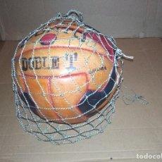 Coleccionismo deportivo: BALON FUTBOL PUNTO DOBLE T REGLAMENTARIO AÑOS 40 LEER VER ENVIO. Lote 219492112