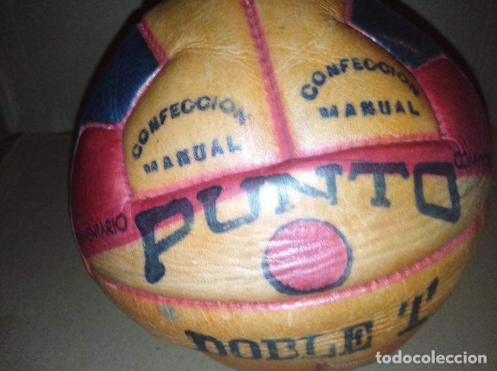 Coleccionismo deportivo: balon futbol punto doble t reglamentario años 40 leer ver envio - Foto 4 - 219492112