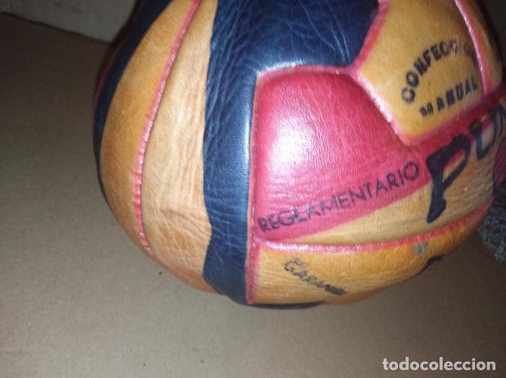 Coleccionismo deportivo: balon futbol punto doble t reglamentario años 40 leer ver envio - Foto 5 - 219492112