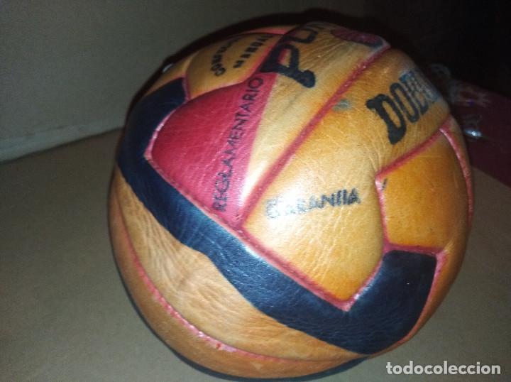 Coleccionismo deportivo: balon futbol punto doble t reglamentario años 40 leer ver envio - Foto 6 - 219492112