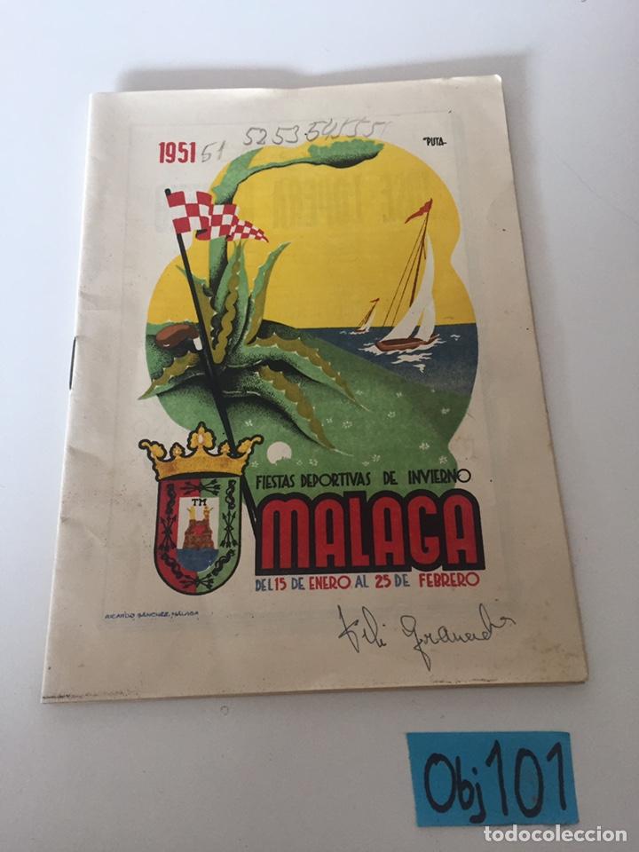 FOLLETOS FERIA DEPORTIVA INVIERNO MÁLAGA (Coleccionismo Deportivo - Material Deportivo - Fútbol)