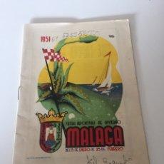Coleccionismo deportivo: FOLLETOS FERIA DEPORTIVA INVIERNO MÁLAGA. Lote 221514840