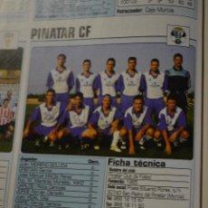 Colecionismo desportivo: RECORTE DE DON BALON 2002-03.FOTO Y PLANTILLA DEL PINATAR CF. Lote 221631446