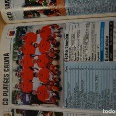 Coleccionismo deportivo: RECORTE DE DON BALON 2002-03.FOTO Y PLANTILLA DEL CD PLATGES CALVIA. Lote 221666728