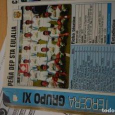 Coleccionismo deportivo: RECORTE DE DON BALON 2002-03.FOTO Y PLANTILLA DEL PEÑA DEPORTIVA SANTA EULALIA. Lote 221666801