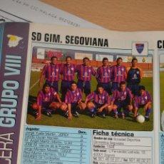 Collezionismo sportivo: RECORTE DE DON BALON 2002-03.FOTO Y PLANTILLA DEL SD GIMNASTICA SEGOVIANA. Lote 221792953