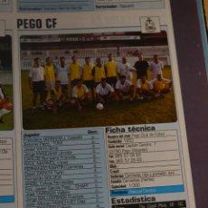 Coleccionismo deportivo: RECORTE DE DON BALON 2002-03.FOTO Y PLANTILLA DEL UD PEGO CF. Lote 221794783