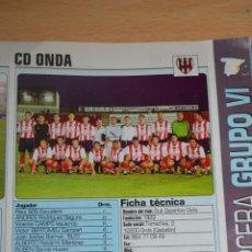 Coleccionismo deportivo: RECORTE DE DON BALON 2002-03.FOTO Y PLANTILLA DEL CD ONDA. Lote 221795000