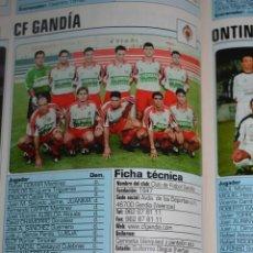 Coleccionismo deportivo: RECORTE DE DON BALON 2002-03.FOTO Y PLANTILLA DEL CF GANDIA. Lote 221795136