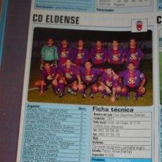 Coleccionismo deportivo: RECORTE DE DON BALON 2002-03.FOTO Y PLANTILLA DEL CD ELDENSE. Lote 221795212