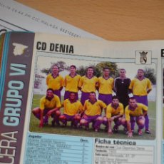Coleccionismo deportivo: RECORTE DE DON BALON 2002-03.FOTO Y PLANTILLA DEL CD DENIA. Lote 221795391