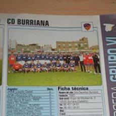 Coleccionismo deportivo: RECORTE DE DON BALON 2002-03.FOTO Y PLANTILLA DEL CD BURRIANA. Lote 221795732