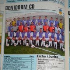 Coleccionismo deportivo: RECORTE DE DON BALON 2002-03.FOTO Y PLANTILLA DEL BENIDORM CD. Lote 221795850