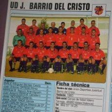 Coleccionismo deportivo: RECORTE DE DON BALON 2002-03.FOTO Y PLANTILLA DEL UD J. BARRIO DEL CRISTO. Lote 221795915