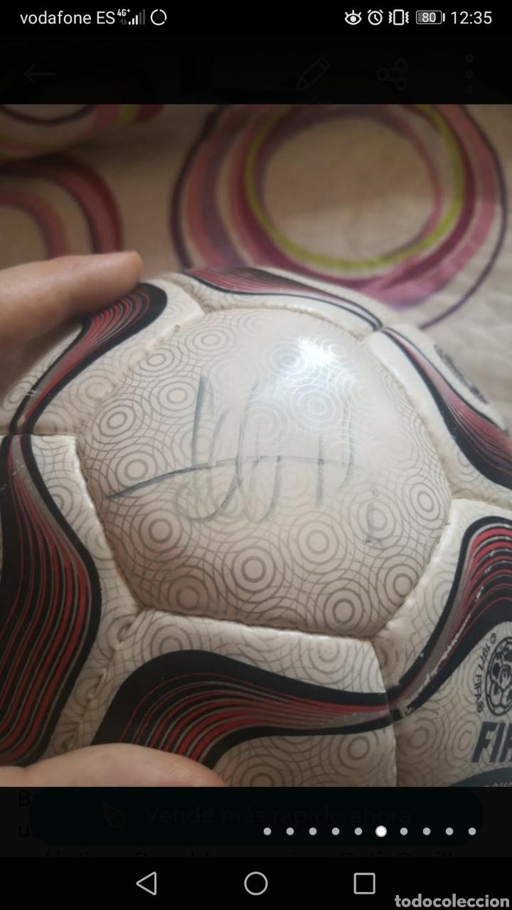 Coleccionismo deportivo: Balón de la liga usado en partido, firmado equipo real Madrid 2006/7 + foto - Foto 6 - 222013158