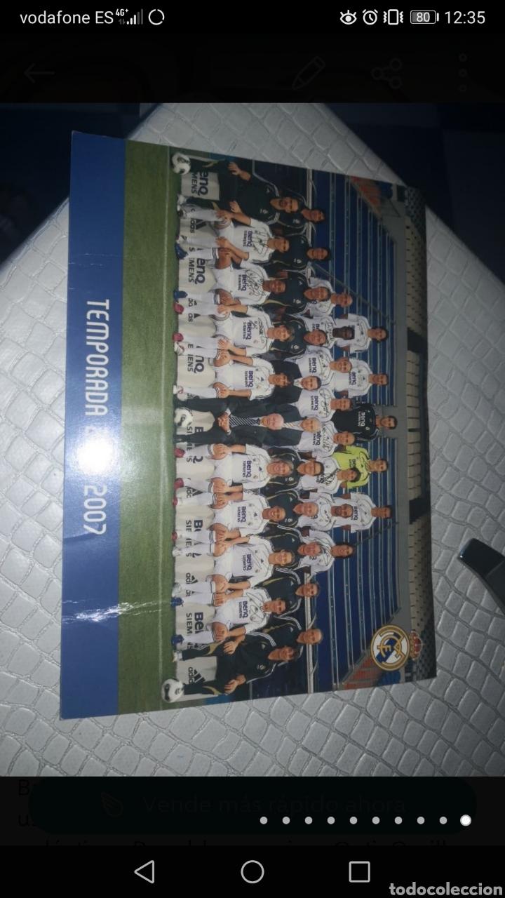 Coleccionismo deportivo: Balón de la liga usado en partido, firmado equipo real Madrid 2006/7 + foto - Foto 10 - 222013158