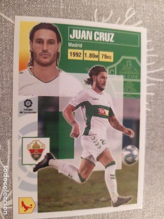 2020 / 2021 20 21 2ª EDICION ELCHE Nº 9 JUAN CRUZ NUEVO DE SOBRE (Coleccionismo Deportivo - Material Deportivo - Fútbol)