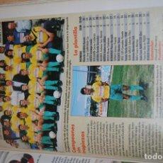 Coleccionismo deportivo: RECORTE DE DON BALON 1996-97.FOTO Y PLANTILLA DEL TROPEZON. Lote 222248822