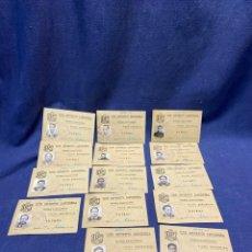 Coleccionismo deportivo: 14 FICHAS JUGADORES FUTBOL CLUB DEPORTIVO CANCIONERA RACING SAN FRANCISCO MADRID TEMPORADA 1944. Lote 222407506