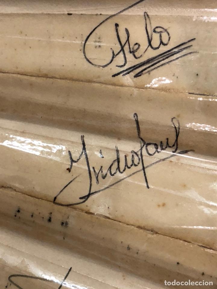 Coleccionismo deportivo: Magnifico abanico firmado por los futbolistas Del Real madrid, años 60 - Foto 10 - 222605823