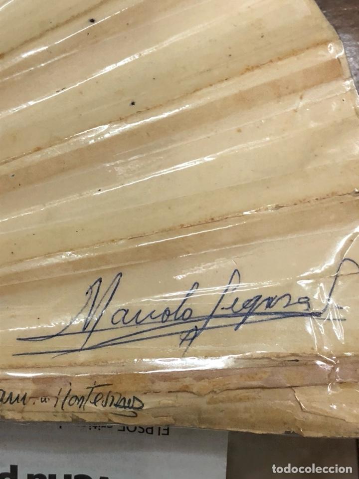 Coleccionismo deportivo: Magnifico abanico firmado por los futbolistas Del Real madrid, años 60 - Foto 14 - 222605823