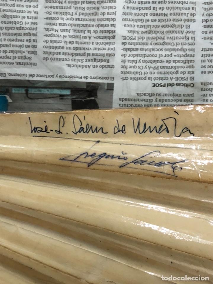 Coleccionismo deportivo: Magnifico abanico firmado por los futbolistas Del Real madrid, años 60 - Foto 15 - 222605823