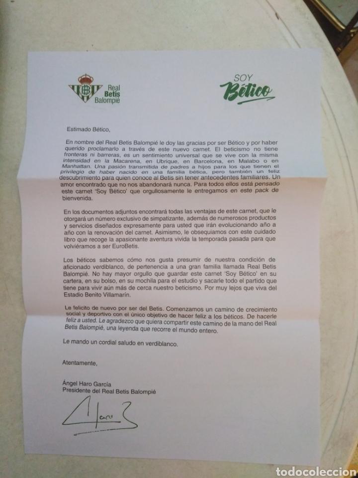 Coleccionismo deportivo: Caja soy betico, Real Betis Balompie ( 90X119 ) - Foto 20 - 223647835