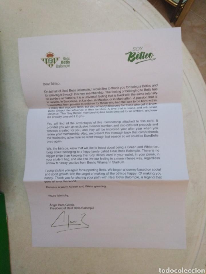 Coleccionismo deportivo: Caja soy betico, Real Betis Balompie ( 90X119 ) - Foto 21 - 223647835
