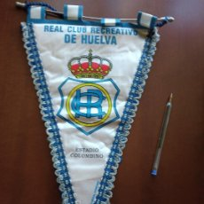 Collezionismo sportivo: RECREATIVO DE HUELVA BANDERIN FUTBOL PENNANT CALCIO BANDERIOLA FOOTBALL. Lote 224707242