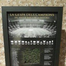 Coleccionismo deportivo: CUADRO, EL CÉSPED DE LOS CAMPEONES, ORIGINAL, DEL CAMP NOU, EDICIÓN LIMITADA Y NUMERADA, NUEVO.. Lote 239675795