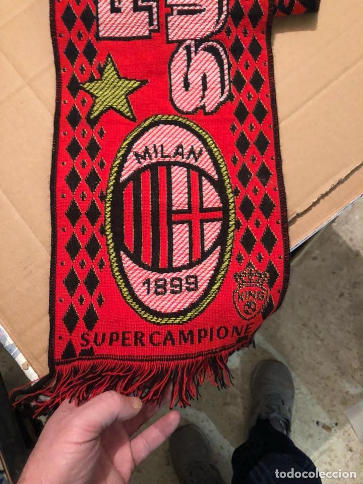 Coleccionismo deportivo: Bufanda del Milán años 90 - Foto 2 - 226904840