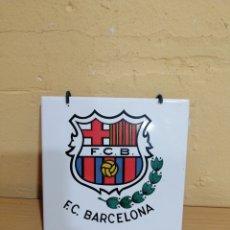 Colecionismo desportivo: AZULEJO DECORATIVO DE F. C. BARCELONA MARCA ALCORA. Lote 227265760